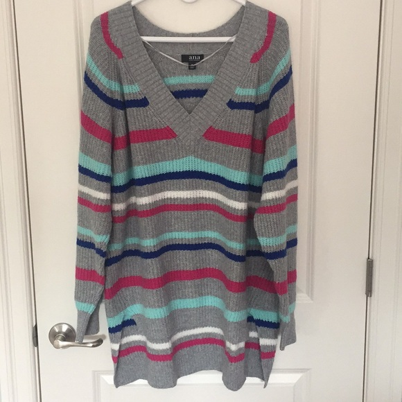 6a90969ec87 a.n.a Women's V Neck Pullover Sweater - Size XL